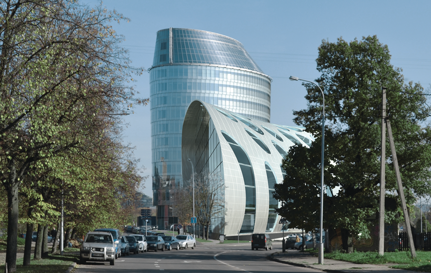 Green Hall 2 office building in Vilnius, Lithuania
